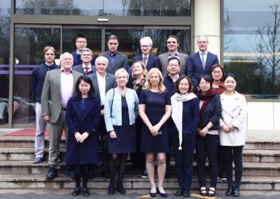 Group photo at Tsinghua University